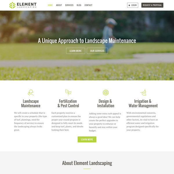 Website Template - Element - Landscaping